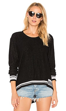 Big Backslant Rib Mix Trim Sweatshirt