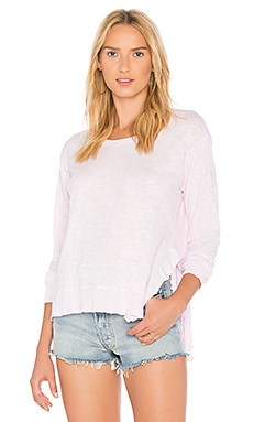 Slant Ruffled Sweatshirt