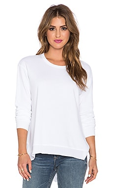 Wilt Big Shift Slant Sweatshirt in White