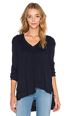 Wilt Unfinished Shifted Big Sweatshirt in Blue Night