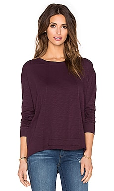 Wilt Slub Paneled Sweatshirt in Maroon