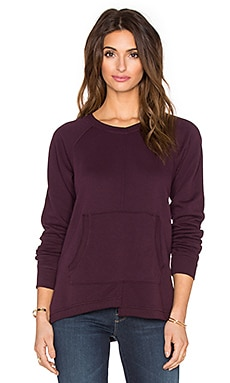Wilt French Terry Easy Pocket Sweatshirt in Maroon