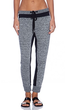 Wilt Black Tweed French Terry Slouchy Slim Mixed Sweats in Black & White