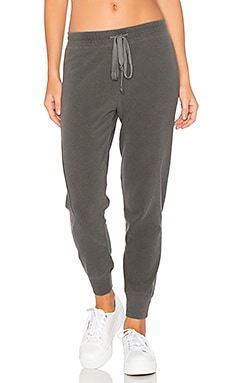 Twist Shrunken Sweatpants in Distressed Black
