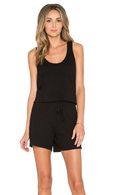 Wilt Pocket Tank Romper in Black