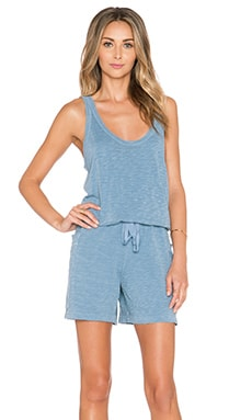 Wilt Pocket Tank Romper in Fog