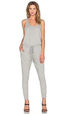 Wilt Slub Tank Scoop Neck Jumpsuit in Fennel