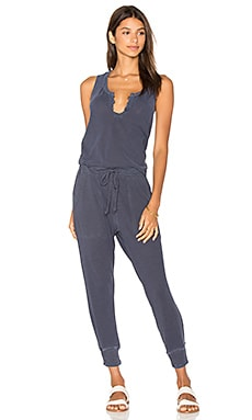 Drop Racer Tank Jumpsuit in Sulfur