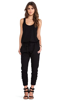 Wilt Slub Tank Jumpsuit in Black