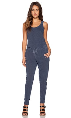 Wilt Slub Jersey Tank Jumpsuit in Distressed Storm