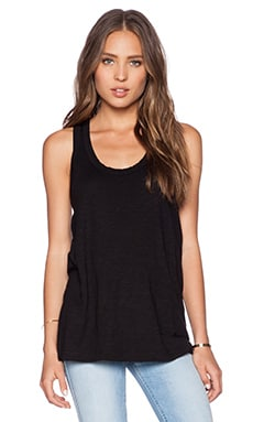 Wilt Slub Hi Lo Tank in Black