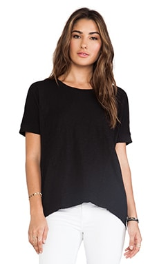 Wilt Slub Boxy Panelled Tee in Black