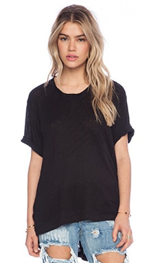 Wilt Lux Slub Basic Big Boy T in Black