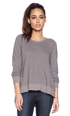 Wilt Shrunken V Back Raglan in Mouse