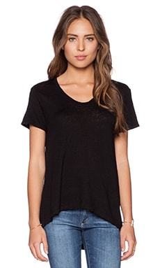 Wilt Lux Slub Short Sleeve Easy Tee in Black