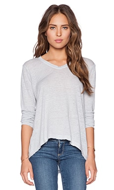 Wilt Lux Slub Long Sleeve Raw Easy Tee in Mist