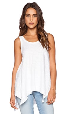 Wilt Slub Double Scoop Flutter Tank in White