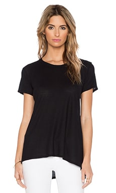 Wilt Shrunken Crew Boyfriend Tee in Black