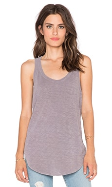 Wilt Shrunken Shirtail Tank in Chrome