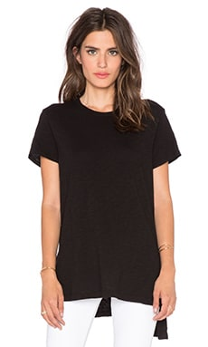 Wilt Shrunken Shifted Crew Neck Tee in Black