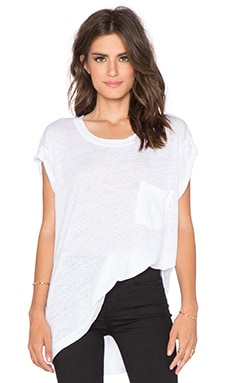 Wilt Short Sleeve Cuff Tee in White