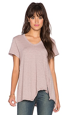Wilt Shrunken Shifted Deep V Tee in Antique