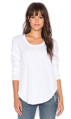 Wilt Shirttail Long Sleeve Tee in White