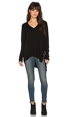 Wilt Drama Back Deep V Tee in Black
