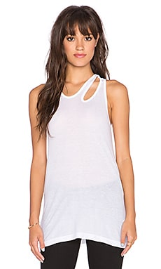 Wilt Slit Shoulder Tank in White