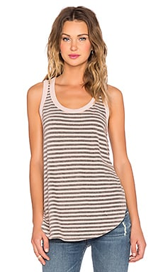 Wilt Shrunken Shirttail Tank in Black & Porcelain