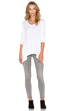 Wilt Mixed Panel Tunic Tee in White
