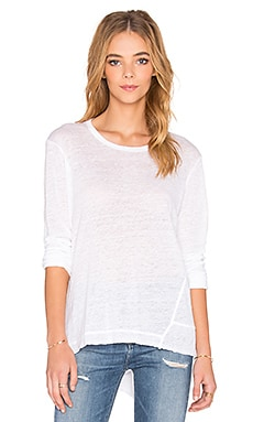 Wilt Lux Slub Raw Baby Backslant Tee in White