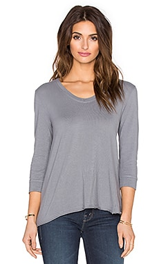 Wilt Lux Cotton Elbow Shrunken Tee In Iron