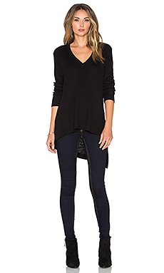 Wilt Thermal V Neck Tunic in Black