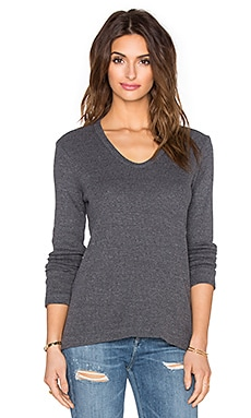 Wilt Thermal Baby Slouchy Boyfriend Tee in Iron