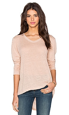 Wilt Lux Slub Long Sleeve Easy Tee in Putty