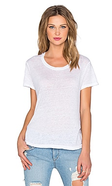 Wilt Lux Slub Baby Vented Crew Neck Tee in White