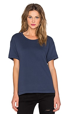 Wilt French Terry Sweat Crew Neck Tee in Indigo