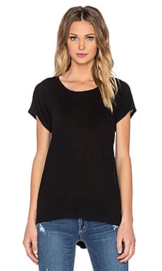 Wilt Lux Slub Baby Crew Neck Tee in Black