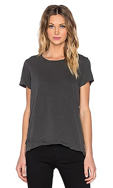 Wilt Slub Mock Layered Crew Neck Tee in Slanted Vented