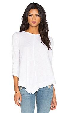 Wilt Slub Bell Sleeve Tunic Top in White