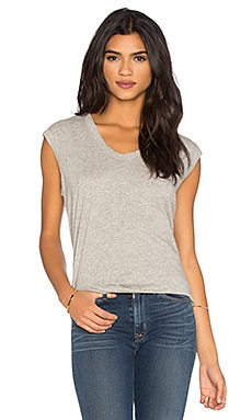 Pima Muscle Tee in Grey Heather