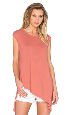 Wilt Lux Cotton Slant Tunic in Cinnamon