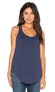 Slub Shrunken Shirttail Tank in Aviator