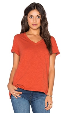 Slub Roll Sleeve Baby V Neck Tee in Rooster