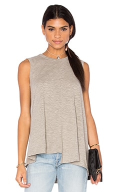 Slub Shifted Trapeze Tank in Grey Heather