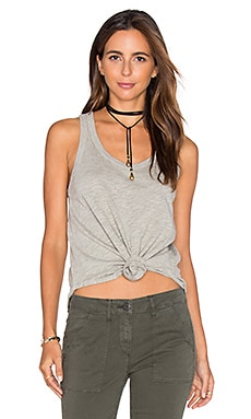 Shrunken Shirttail Tank en Gris Chiné