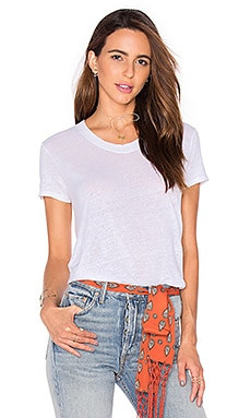 Lux Slub Unfinished Easy Short Sleeve en Blanc