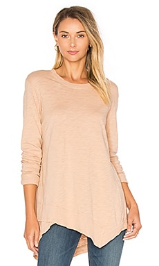Slub Easy Crew Top in Blossom