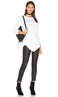 V Front Tunic in White